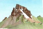 Croquis Ossau Est. 1993, Encres et crayons de couleurs, format A5